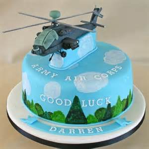 Army Themed Decorations - share helicopter cakes via photos of your homemade creations
