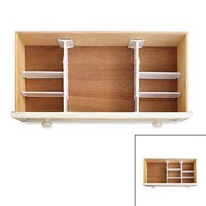 real simple 174 6 adjustable drawer organizer bed
