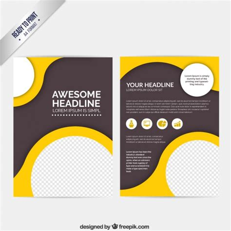 leaflet design templates free download psd abstract brochure with circles vector free download