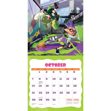 splatoon calendar 2018 nintendo official uk store