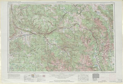 topographical map of colorado springs leadville topographic maps co usgs topo 39106a1 at