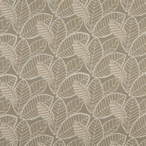 Upholstery Fabric Gray And Beige Leaves Indoor Outdoor Upholstery Fabric By