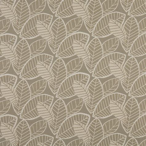 reupholstery fabric gray and beige leaves indoor outdoor upholstery fabric by