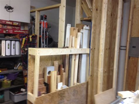vertical sheet goods rack  sliding cut  bin