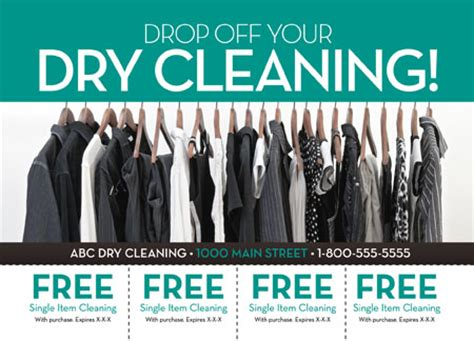 3 Brilliant Dry Cleaning Direct Mail Postcard Advertising