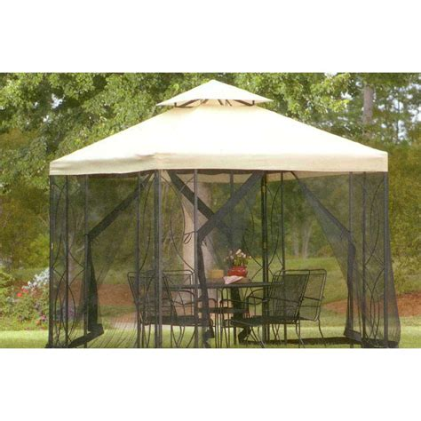 8x8 gazebo garden treasures 8 x 8 steel gazebo s 582d s 582dn