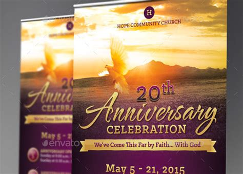 templates for church posters church anniversary banner template godserv market