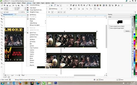 corel draw x4 edit bitmap greyed out intersecting bitmaps issue or coreldraw x7
