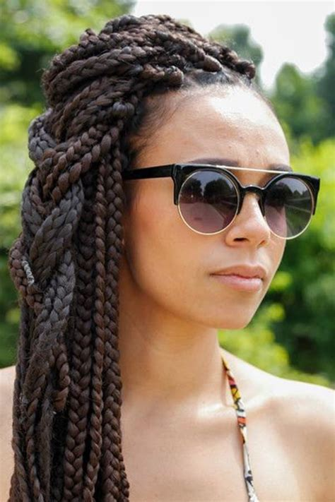 different hairstyles for box braids 79 sophisticated box braid hairstyles with tutorial