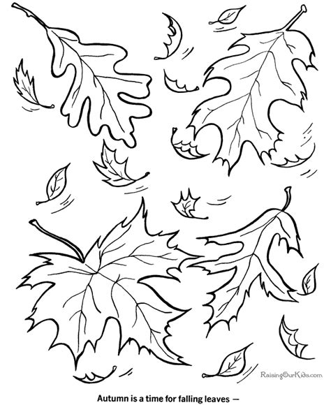 fall coloring picture