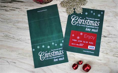 Gift Card Carrier - free printable gift card holder spend christmas