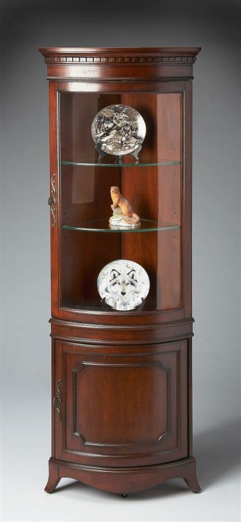 buy plantation cherry corner curio cabinet by butler from