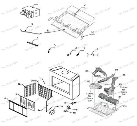 gas fireplace repair parts bv5142 bv5142 the cozy cabin stove fireplace parts store