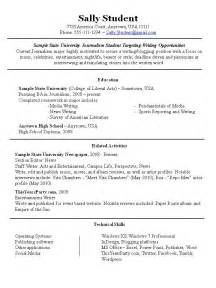 sle student resume for part time