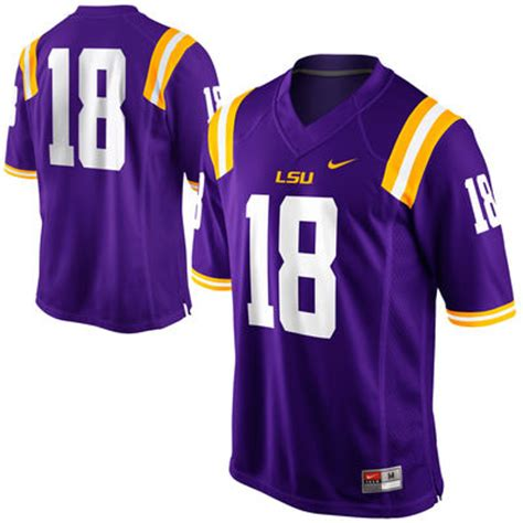 nike lsu tigers 18 football jersey purple