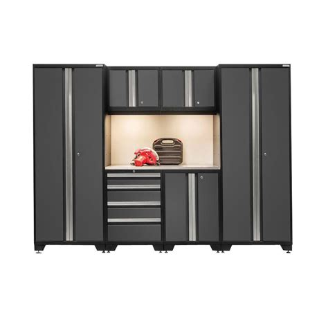 new age garage cabinets newage products bold 3 series 77 in h x 162 in w x 18 in d 24 welded steel bamboo