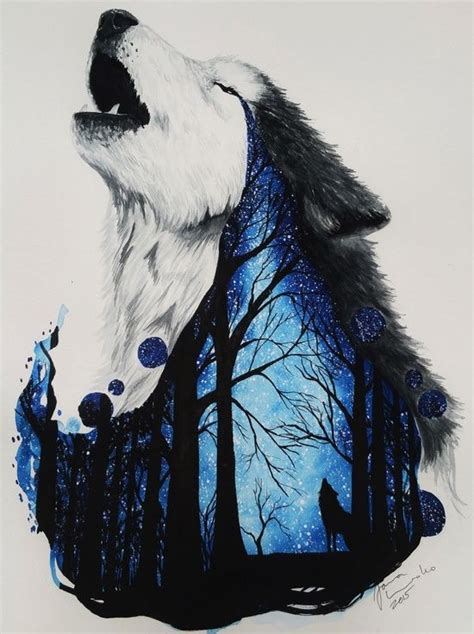 Pencil Drawing Wolf