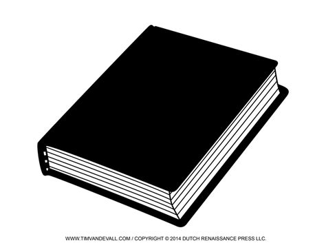 black and white book clipart free blank book cover template book report reading