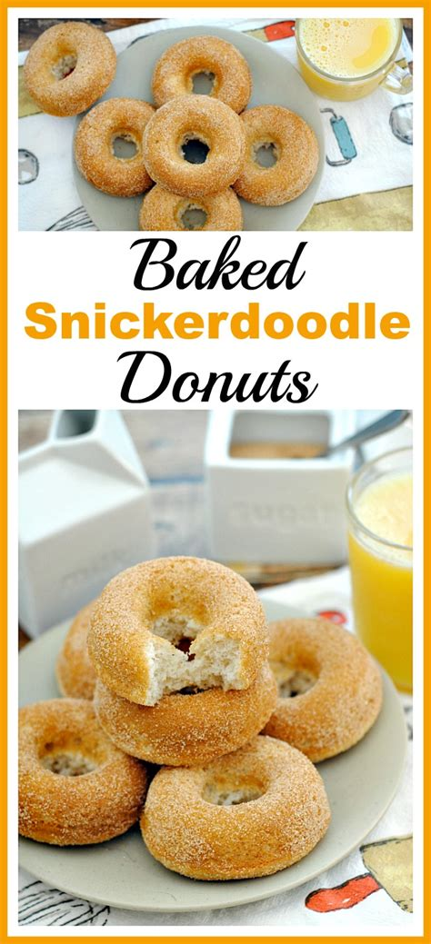 doodlebug donuts baked snickerdoodle donuts