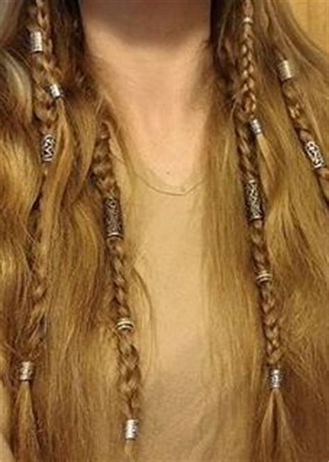 celtic warrior hair braids viking hairstyle with braids and beads really cool