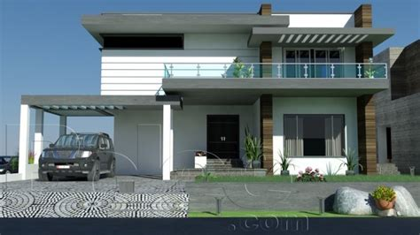 1 kanal 10 marla plan amp beautiful 3d front elevation of