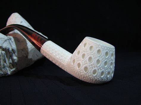 Handmade Pipe - lattice meerschaum tobacco pipe handmade
