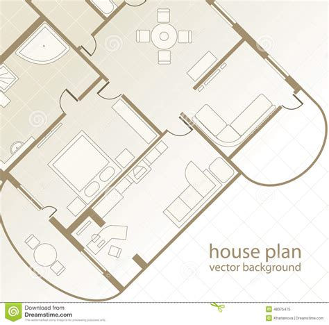 house layout vector house plan architectural background stock vector image