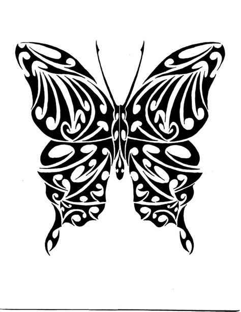 black tribal butterfly tattoos free butterfly tribal free clip free clip