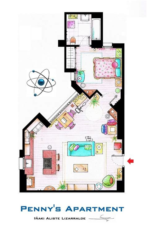 big bang theory floor plan penny s apartment from tbbt by nikneuk on deviantart