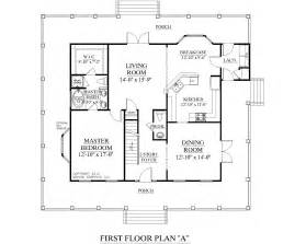 Small 1 Story House Plans Southern Heritage Home Designs House Plan 2051 A The