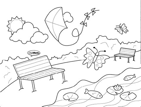park template thank you for visiting summer in the park colouring