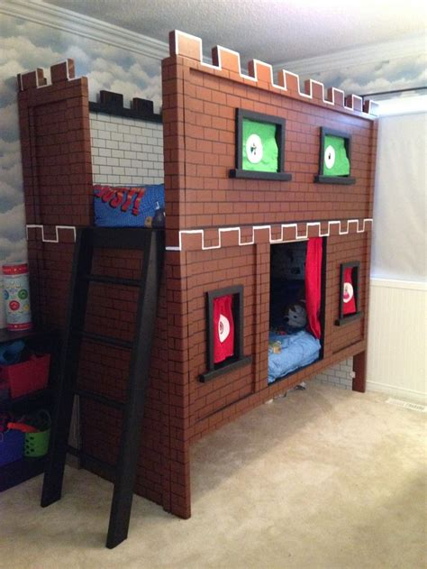 super mario bunk bed castle  embroidered character