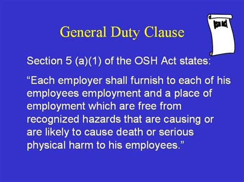 section 5 a 1 of the osh act tuberculosis overview of enforcement for occupational
