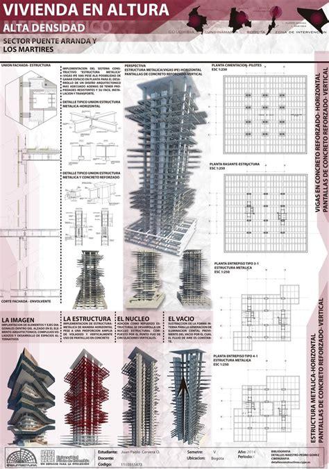 layout style en français estructura vivienda en altura proyectos
