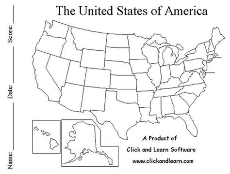 united states map for learning states worksheets us map worksheet opossumsoft worksheets and