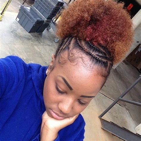 stylish cornrow puff 367 best images about creativity of cornrows on pinterest