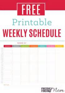 free printable weekly schedule