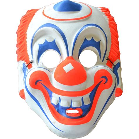 mask glass lwork beadby michal s jewelry 1960s creepy circus clown mask sold on ruby