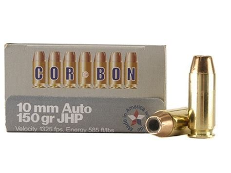 cor bon self defense ammo 10mm auto 150 grain jacketed