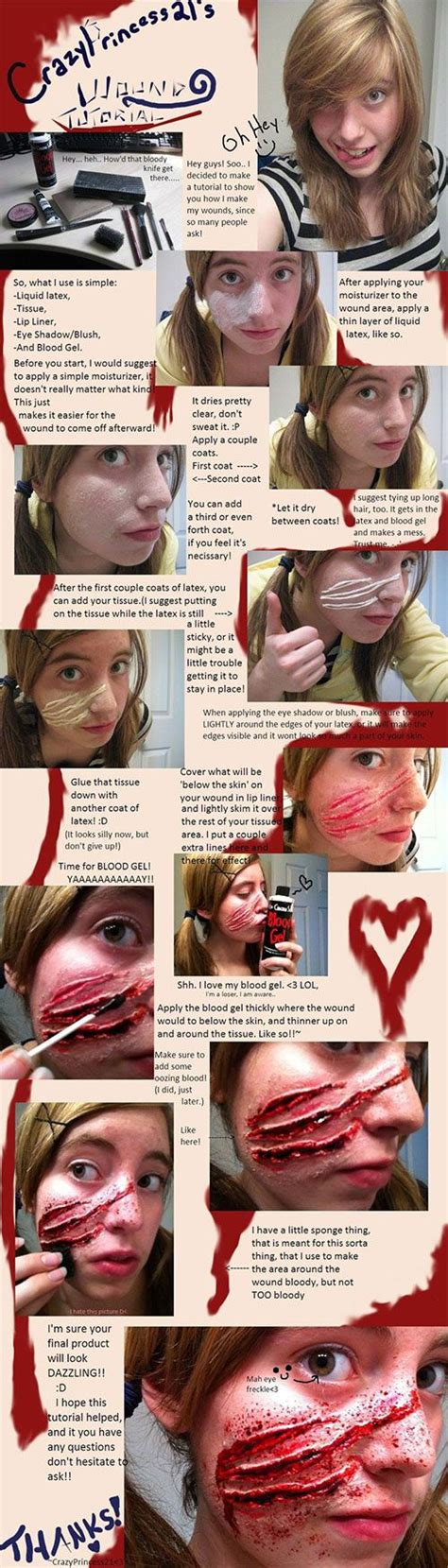zombie scar tutorial 15 terrifying halloween makeup tutorials to take your