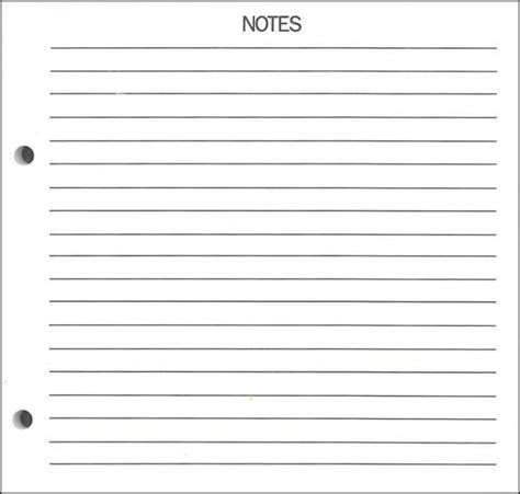22 Notes Page Template Images 10 Best Images Of Printable Blank Notes Template Free Printable Notes Page Template