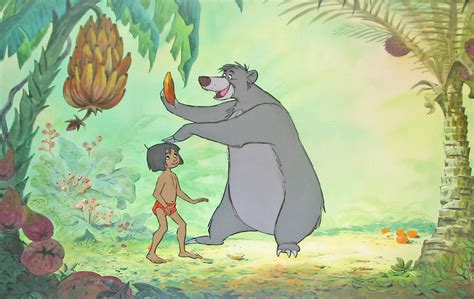 the jungle book pictures original walt disney production cel on preliminary