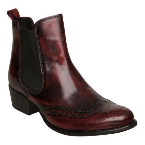 new dune prowler oxblood leather brogue chelsea