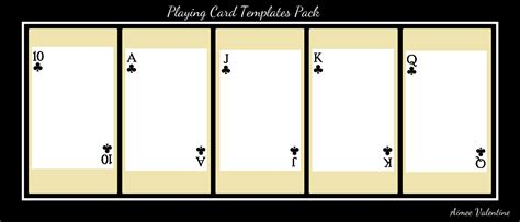 best photos of playing card templates for word playing
