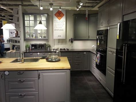 ikea gray kitchen idea would need colorful backsplash to