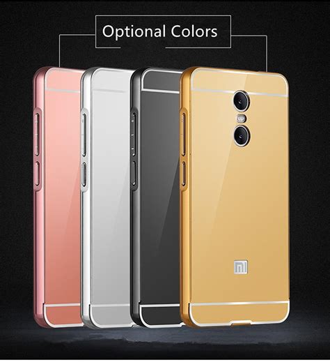 Xiaomi Note 1 3g4g Alumunium Metal Mirror mirror aluminum metal cases for xiaomi redmi note 4 cover luxury bumper frame for xiaomi