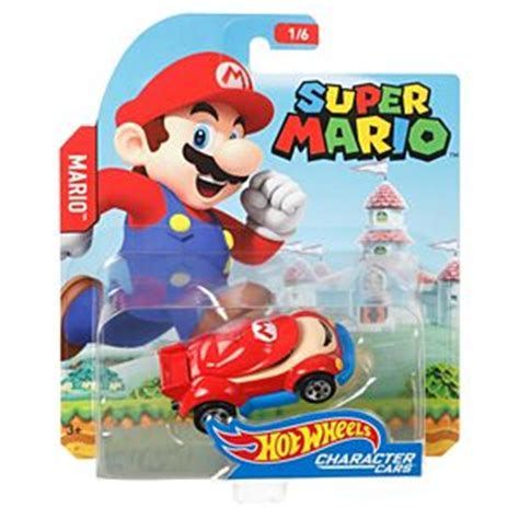 Hotwheels Mario Bros Mario wheels mario bros mario character car fgk28 wheels
