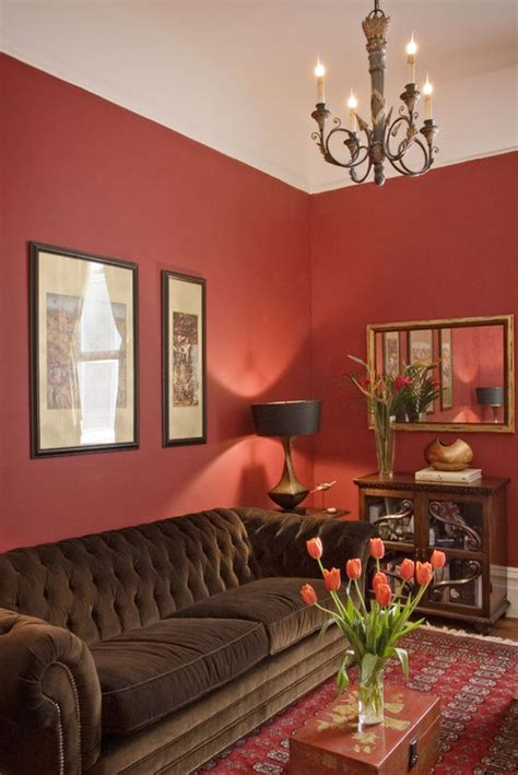 interior design red walls red living room