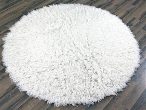 Round White Fluffy Rug Best Decor Things White Rugs
