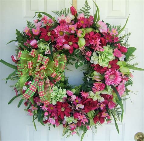beautiful wreaths last one beautiful spring wreath custom order lime